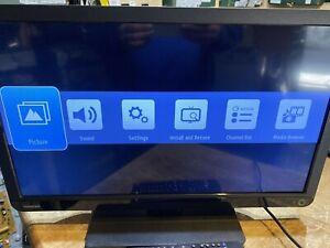 """24"""" Toshiba 24w1333b led slim tv freeview hdmi usb"""