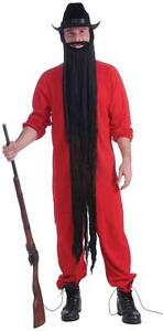"48"" Long Beard Hair Fancy Dress Up Halloween Adult Costume Accessory 3 COLORS"
