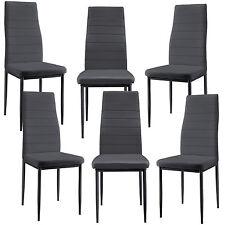 [en.casa] Chaise de salle à manger gris 6er Set Salon À cuisine