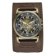 New GUESS Men's Brown Leather Watch U13555G1 new with tag and original Guess box