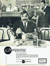 Publicité Advertising 087  1964  Rhum Duquesne  punch photo Le Bihan Moustache