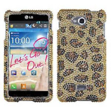 For MetroPCS LG Spirit 4G Crystal Diamond BLING Hard Case Phone Cover Leopard