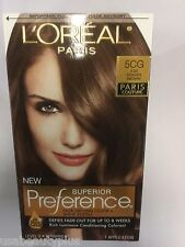 L'Oreal Superior Preference Paris Couture Hair Color ICED GOLDEN BROWN #5CG