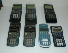 Lot Of 7 Texas Instruments Graphing Calculators
