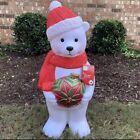 "New 2021 Christmas Polar Bear Light Up Blow Mold Ornament 35"" Yard Decor *HTF"