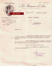 Beau Document du 22/07/1944 LA JEANNE D'ARC Epinal 88