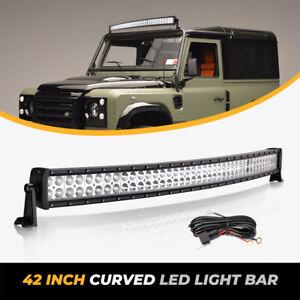 """42"""" Zoll Led Arbeitsscheinwerfer Lichtbalken 12V 24V Light Bar Offroad SUV Lampe"""