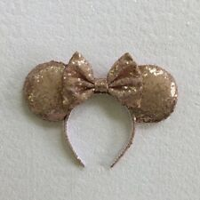 Champagne Sequin Minnie Mouse Ears, Sequin Ears, Mickey Mouse Ears, Sequin Mouse
