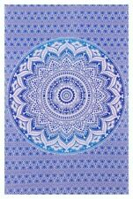 Indien Cotton Magical Blue Ombre Tapestry Wall Hanging Bedspread Large Tapestry