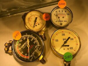 Pressure Gauges - Selling 4 gauges as one Lot  Review Photos IN4025