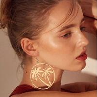 Fashion Elegant Women Round Hollow Tree Earrings Hook Drop Dangle Earring