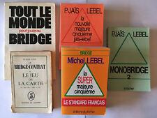 LOT DE 5 LIVRES SUR LE BRIDGE JEUX DE CARTE MONOBRIDGE SUPER MAJEURE