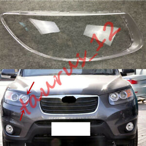 For Hyundai Santa Fe 2007-2012 Replace Right Side Clear headlight cover PC+Glue