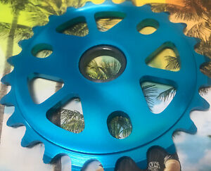"""MONSTER Tuff 25t 1/8"""" BMX Bike Chainring 6061 Alloy Blue 19 22 24mm NEW Light!dk"""