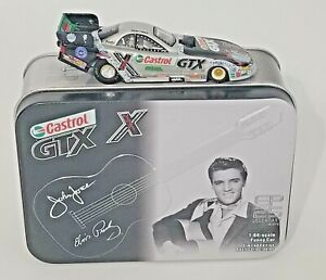 2002 ACTION 1/64 JOHN FORCE CASTROL ELVIS 25TH ANNIVERSARY MUSTANG FUNNY CAR TIN