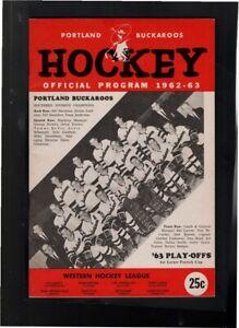 1963 PORTLAND BUCKAROOS VS SAN FRANCISCO SEALS PLAYOFF. HOCKEY PROGRAM-EX-MT