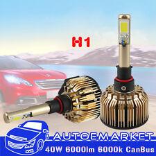 1 Set CanBUS Car H1 LED COB Headlight Kit High Power Beam 6000K 40W White Bulbs