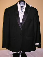 $500 New Jos A Bank 1905 Tailored fit Tuxedo Separate solid black Jacket 42 S