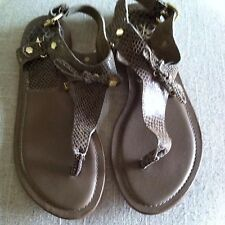 A/X Armani Exchange Women's Brown Animal Print Thong Sandals Shoes  9 M