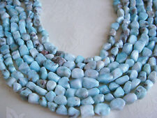 "5x8mm Small Nugget Shape Larimar 15""-16"" INCH Stones Beads ("