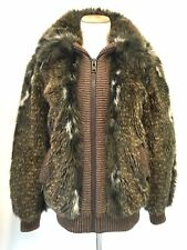 Vintage Adolph Schuman For Lilli Ann Faux Fur Jacket Coat Zip Front Est Sz S/M