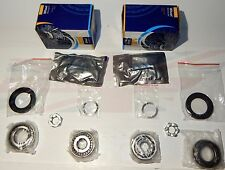 Pair of New Tapered Front Axle Wheel Bearing Kits w Seals MG Midget 1962-79