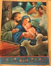 New listing New Te Nativity Christmas Garden Flag 12x18 Religious Baby Jesus Angels Lamb Htf