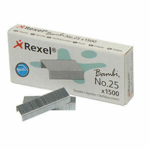 Rexel Bambi Staples No.25 Mini Stapler Refills (6/4) - Pack 1500