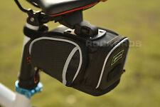 Rockbros Road Bike Saddle Bag MTB Seat Post Bag Fixed Gear Fixie Black New