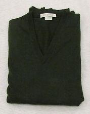Golf verde scuro scollo a V pura lana vergine JOHN SMEDLEY V Neck Pure New Wool