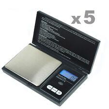 CS-500 500g x 0.1g  Digital Pocket  Portable Jewelry Scale - 5pcs Lot