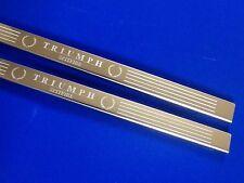 TRIUMPH Spitfire triunfo puerta alféizares de acero inoxidable grabado con el logotipo Inc Fijaciones