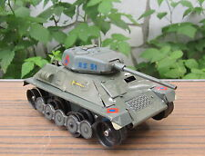 VINTAGE MS MADE IN GERMANY RS 51 BATTLE TANK BATTERY OPERATED MILITARY TIN TOY