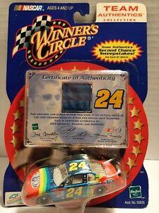 "Winners Circle"" Team Authentics ""  Jeff Gordon  1/64 Car w/A Piece Of Uniform -"