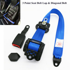 Universal 3 Point Retractable Car Safety Seat Belts Lap Safety Belt Seatbelts