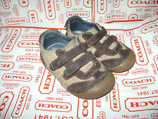 STRIDE RITE CAVY BABY TODDLER BOYS SHOES size 5 W BROWN LEATHER VERY CUTE