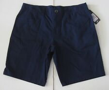 38 Men's Under Armour Payload Fitted Flat Front Khaki Shorts Academy Blue NWT