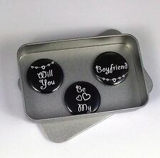 Love, Wedding 'Will You Be My Boyfriend' Magnet Gift Set with Gift Tin. Handmade