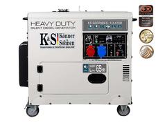 EBERTH 5kW E-Start Diesel Stromerzeuger Notstromaggregat Stromaggregat 3-Phasen