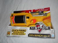 Nerf N Strike Maverick 2009 Rev 6 Quick Firing Blaster Toy 61497 Yellow Orange