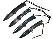 R-Tek Paracord Handle Tactical Assisted Open Folding Knife-2 Pack-4 Colors