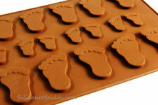 BABY FEET Chocolate Candy Silicone Mould Cake Decorating Resin Wax Melt Soap