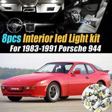 8Pc Super White Car Interior LED Light Bulb Kit for 1983-1991 Porsche 944