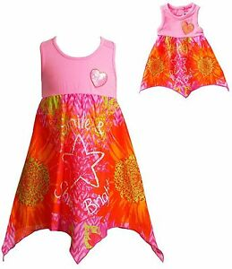 Dollie & Me SUMMER Outfit Matching Sequin Heart  Dress fits American Girl Doll 5