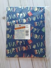 "American Greetings ""Happy Birthday"" Metallic Wrapping Paper"