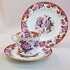 Cauldon Pink Bentick Trio Cup Saucer Plate Vintage