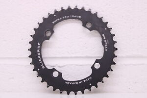 Used Black Spire 8/9 Speed Super Pro 104 BCD 38 teeth Chainring Chain Ring.