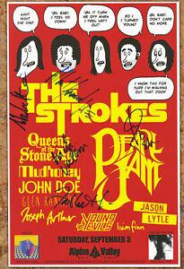 The Strokes autographed gig poster Fabrizio Moretti, Julian Casablancas