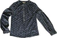 STUNNING!!! MONSOON Mojo Jacquard Woven Cotton Frill Cuff Blouse Top Shirt 8-22