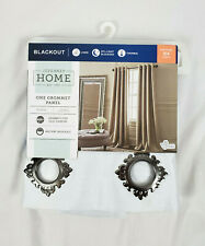 "JCPenney Home White Plaza Blackout Grommet Panel, 50""x84"""